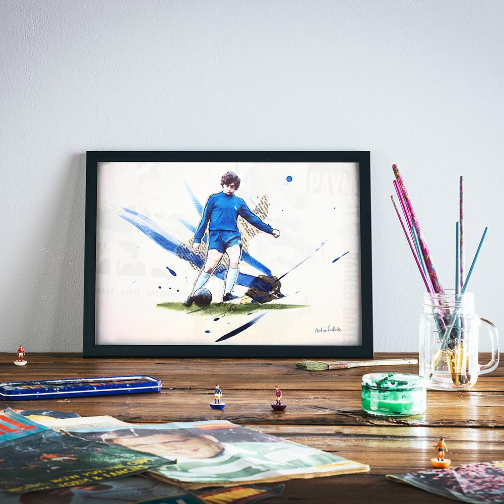 Trevor Francis print by Art of Football